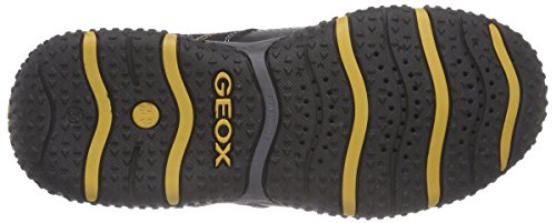 Geox J Baltic B. Wp C, Baskets Basses Garçon Noir - Schwarz (C0620BLACK/OCHREYELLOW)