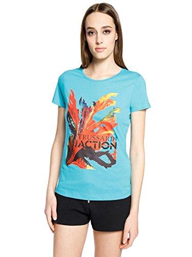 Trussardi action t-shirt donna, l, turchese