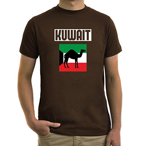 Maglietta Kuwait flag and camel Marrone