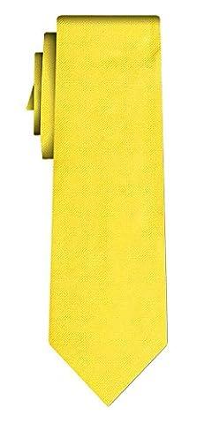 solid colour silk tie