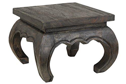 Asiatische Wohnzimmer Beistelltisch (Kleiner Opiumtisch 30x30x23 cm Massivholz Handarbeit, dunkel. Als Beistelltisch, Hocker oder Tisch für Pflanzen.)