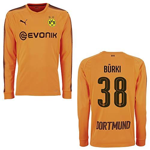 Puma BVB Trikot Torwart Kinder orange 2018 - BÜRKI 38, Größe:128