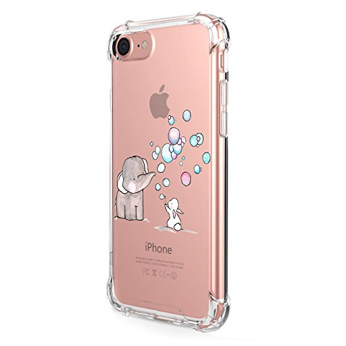 Funda iPhone 8 Carcasa Silicona Transparente Protector TPU Airbag Anti-Choque Ultra-Delgado Anti-arañazos Case para Teléfono Apple iPhone 8 Plus Caso Caja (iPhone 8, Patrón 02)
