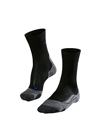 FALKE TK2 Cool Damen Trekkingsocken / Wandersocken - schwarz, Gr. 37-38, 1 Paar, kühlende Wirkung, mittlere Polsterung, feuchtigkeitsregulierend