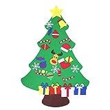 Kaimus fai da te albero di Natale feltro con ornamenti per i regali di Natale dei capretti Decorazione di appendere di parete del portello di anno nuovo