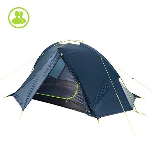 Naturehike 1/2 Persona Ultralight Backpacking Tenda Campeggio all\'aperto Un Singolo Strato Tenda Impermeabile (Blue, 2P)
