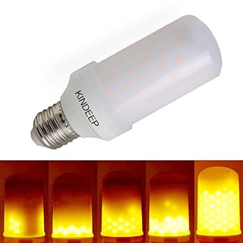 KINDEEP Lampadine a fiamma LED, Flackern Flame Bulbs E27 1600K Luci creative con emulazione tremolante Atmosfera Lampade decorative per casa, giardino, festa, bar, matrimonio, confezione da 1