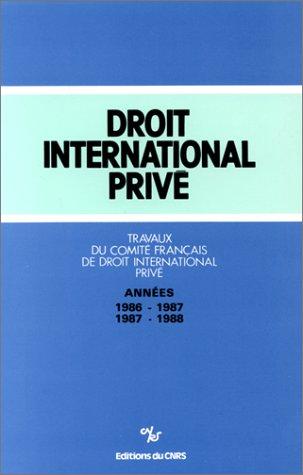 Droit international privé - Années 1986/1987, 1987/1988