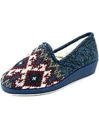 AdeeSu - zapatilla baja mujer , color azul, talla 1 UK