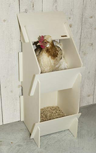 Kerbl 73005 Hühner Legenest aus Holz, unmontiert, 30 x 35 x 83 cm - 4