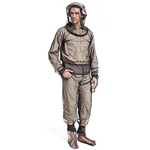AUOKER Zeckenanzug, Moskito Anzug Mückenschutz Kleidung Inklusive Kopfbedeckungen, Handschuhe, Hosen, Fußabdeckung für Outdoor und Camping Handschuh Hose