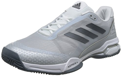 adidas Unisex-Erwachsene Barricade Club Tennisschuhe, Grau (Night Metallic/Ftwr White/Core Black), 38 2/3 EU
