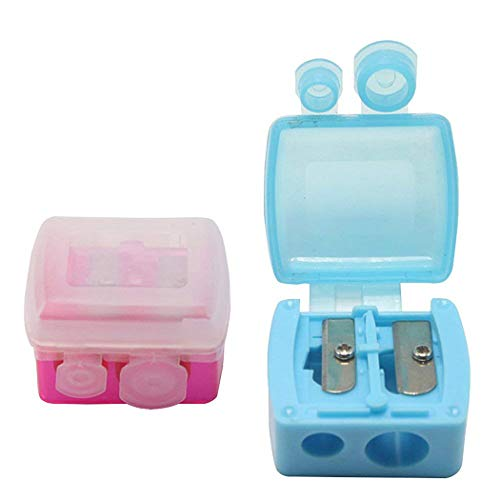 12st dual Löcher makeup Anspitzer mit matter Abdeckung, Handkastenförmigen Augenbrauenstift Schneider