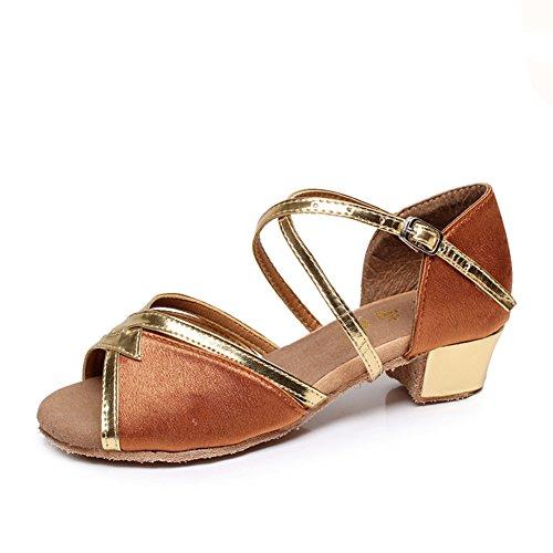 Scarpe da ballo latino per le ragazze/Scarpe inferiori molli/ scarpe da ballo per i bambini I