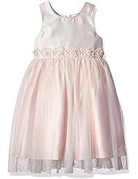 44f15e1d7 Jayne Copeland Girl's Square Neckline-Floral Sash Dress