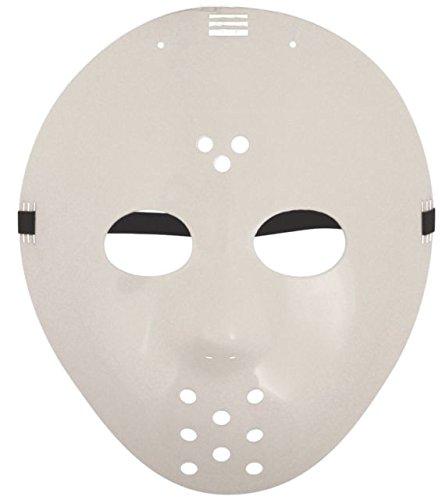 Jason Hockey Weiß Kostüm Halloween Maske (3 Stück) (Lustige Hockey Kostüm)