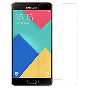 Samsung Galaxy A9 Pro(2016) Compatible Tempered Glass Screen Protector (Antishock, Curved Edged) (Pack of 2, Only Front Transparent Screen Protector) (Combo Offer, get a VJOY 7800 mAh Power-Bank CYAN) (1 Year Replacement Guarantee, Li-ion Battery, Long Battery-Life) worth Rupee 2100/- absolutely free with Screen Protector)