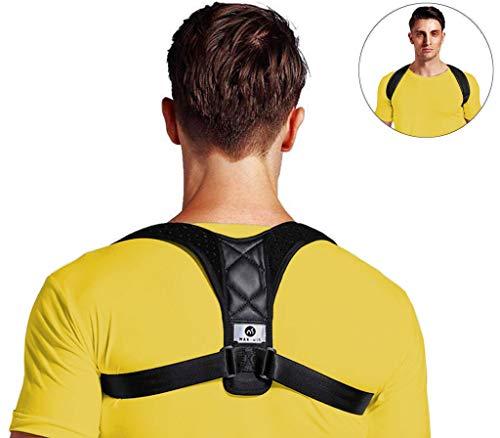 Rückenstütze Haltungskorrektur, für Eine Bessere Körperhaltung und Unterstützung des Rückens Damen Herren Geradehalter | Haltungsbandage Rückenstützgürtel Rückenbandage S-M