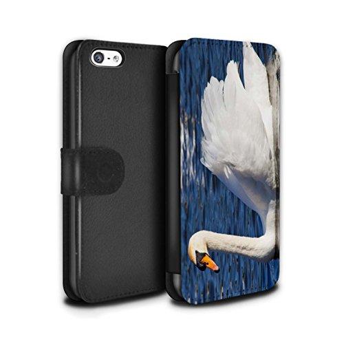 Stuff4 Coque/Etui/Housse Cuir PU Case/Cover pour Apple iPhone 5C / Pack 16pcs Design / Côte de la Colombie Collection Cygne