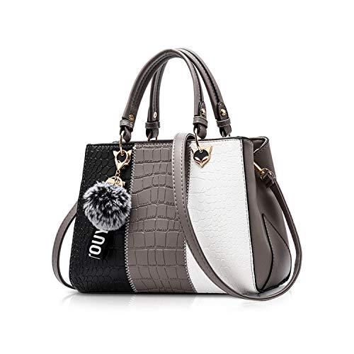 NICOLE & DORIS 2019 Neue Welle Paket Kuriertasche Damen weiblichen Beutel Handtaschen für Frauen Handtasche Grau