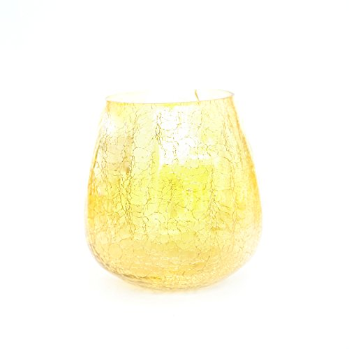 Insideretail Wedding/event Pack Vase/candle Holder, Glass, Gold, 14 Cm, Set Of 18