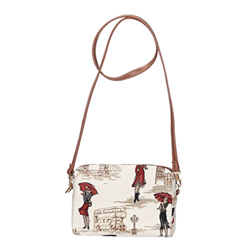 Signare Womens Tapisserie Mode Reise Hip Acrossbody Tasche Miss London