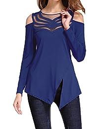 Suchergebnis auf Amazon.de für  transparente blusen - Blau  Bekleidung dbd74b3d71