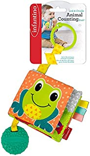 Infantino link & crinkle animal counting book |Stroller & High Chair Toys|Ba
