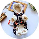 FidgetGear Hunde-Overall mit Weihnachtsmotiv, warm, gepolstert, für den Winter
