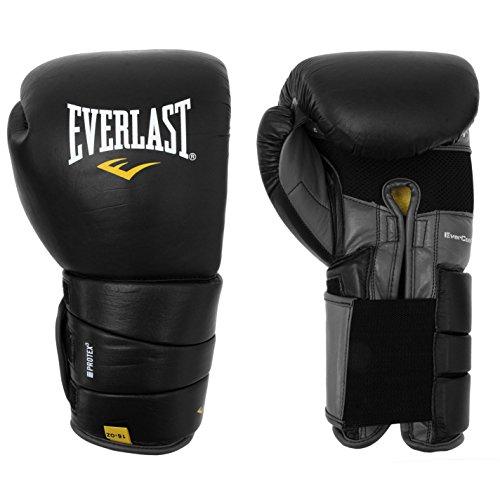 Everlast Unisex Leder Pro 3 Boxen Handschuhe Schwarz 14oz -