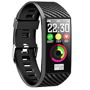 Dkings Fitness Tracker, Pulsuhr EKG PPG Kalorienzähler Schlaf Pedometer 1,14″ Zoll Bunte Anzeige Smart Armband Aktivität IP68 Tracker Bluetooth Smart Uhr für Android & iOS Smart Phones