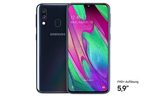 Samsung Galaxy A40 Smartphone (15.0cm (5.9 Zoll) 64GB interner Speicher, 4GB RAM, Dual SIM, schwarz) - Deutsche Version