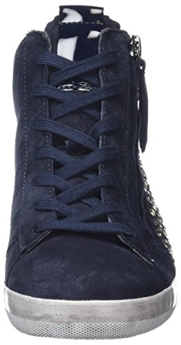 Gabor Shoes Damen Comfort High-Top Sneaker Blau (ocean (Strass) 46)