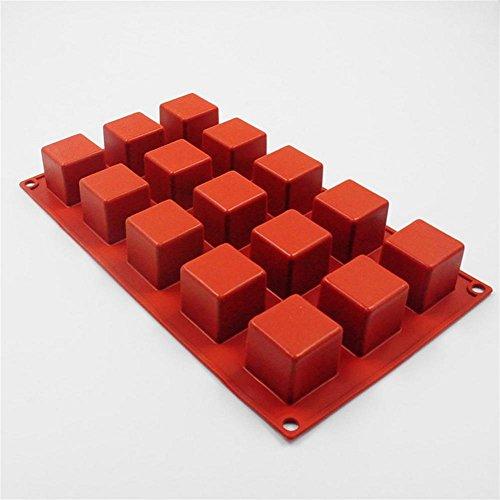 pengweiBackofen 15 mit quadratischen Silikon Form Kuchen Silikon Form 35mm