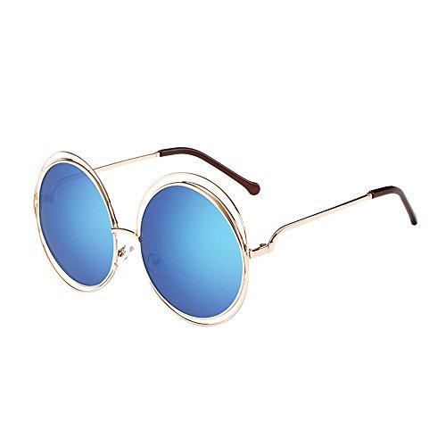 kolila Damen Herren Retro Brillen Sonnenbrillen Verkauf Ausverkauf Unisex Vintage Runde Rahmen Flache Spiegel Sonnenbrillen bieten UV400 Auge Strahlenschutz