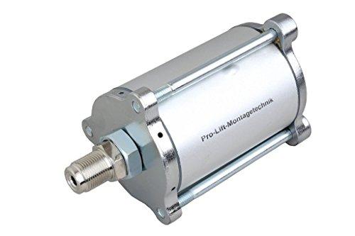 Pro-Lift-Montagetechnik Druckluftmotor für pneumatisch angetriebene Hydraulikpumpen, Gehäuse mit Stehbolzen, silber, 00018
