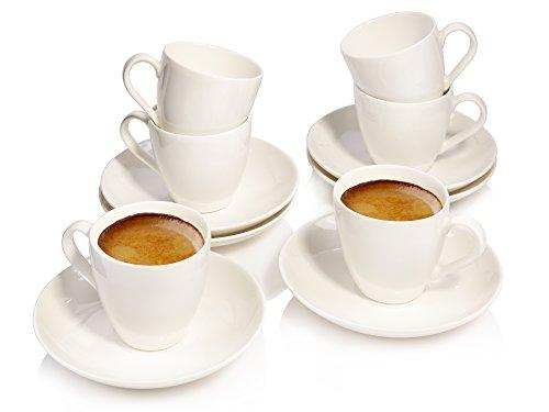 Villeroy & Boch Group Soul 219140 Espressotassen Set aus Porzellan 12 Teilig