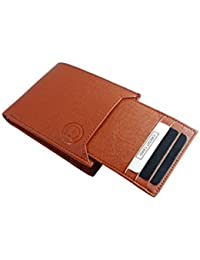 TnW Men's Artificial Leather Wallet With Detachable Card Holder(7 Card Slots)