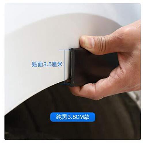 Baedivg 4 stücke Universal Auto LKW Carbon Gummi Rad Augenbrauenschutz Lip Aufkleber Trim Fender Flare Anti-Scratch fit, für, für Audi, für BMW (Black Fender Trim)