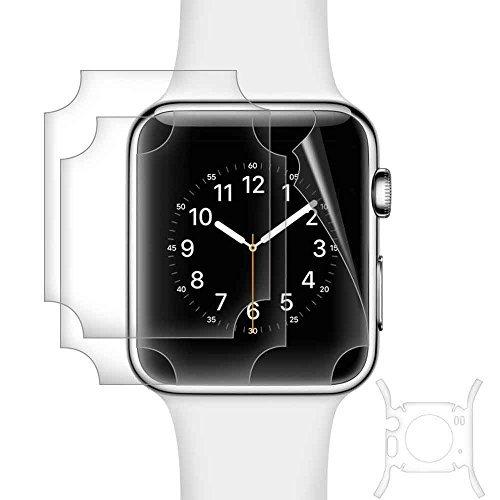 Galleria fotografica aceyoon Schermo Apple Watch 38mm [3 pezzi] Ultra Thin Pellicola Apple Watch 38 mm Series 1 Clear TPU iWatch Proteggi Schermo High Transparent Protezione Pellicola