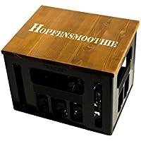 ultiMade Bierkastensitz Geschenkidee Männer Hipster Festival Sitzauflage Bierkiste Hocker aus Holz mit Motiv/Sprüchen - HOPFENSMOOTHIE