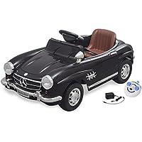 vidaXL Voiture électrique 6 V avec télécommande pour enfant Mercedes Benz 300SL noire