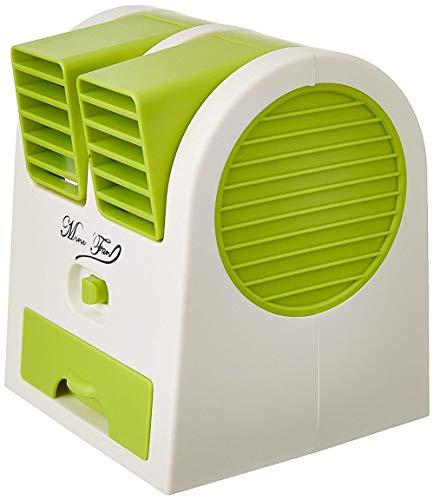 A3 Fashion Dual Bladeless Mini Fan Air Conditioner Water Air Cooler, air Coolers for House, air Coolers for Home, air Cooler for Room (Multi-Coloured)