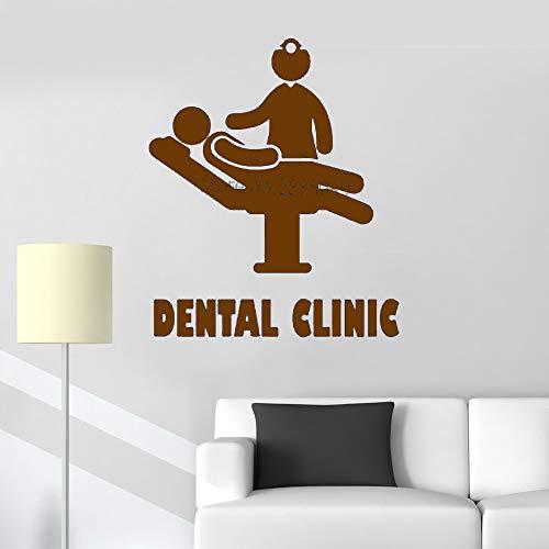 Ajcwhml Zahnklinik Logo wandaufkleber zahnklinik bieten wandtattoo abnehmbare Vinyl Zahn Applique Poster Krankenhaus Dekoration tapete LC864 56 cm x 67 cm -