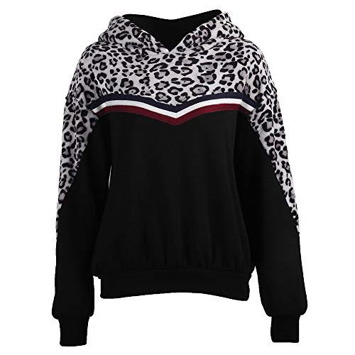 Boutique sale 2019 Frauen Pullover Top Stitching Leopard Langarm Kapuzenpullover Frauen Herbst Frauen Stitching Leopard Langarm Kapuzenpullover Frauen Herbst