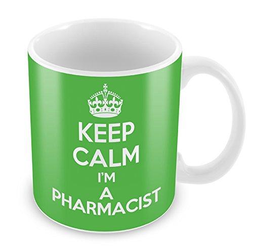 Grün Keep Calm I 'm a Apotheker Becher Kaffee Tasse Geschenkidee Geschenk Arbeitsplätze Arbeit (Apotheker Becher)