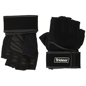 Trideer Fitness Handschuhe Trainingshandschuhe mit 18″(45,7cm) Lange Adjustable Handgelenkstütze und Silica Gel Grip für Gewichtheben Gym Training und Bodybuilding Damen Herren