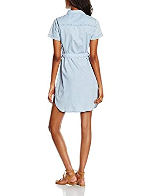 New Look Women's Rainbow Denim Midi Shirt Dress