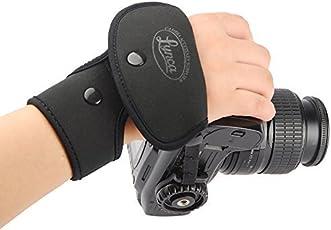 SHOPEE LYNCA Shoulder Neck Leather Wrist Hand Grip Camera Strap for Nikon Canon Sony Pentax Olympus Panasonic SLR DSLR Cameras(EF1-Black)