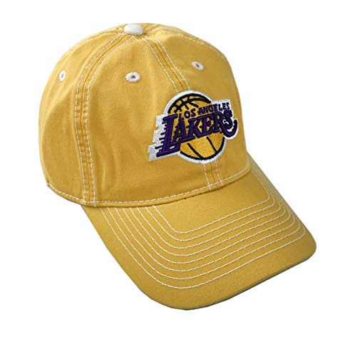 ae3d8b69 adidas NBA Official Licensed Adjustable Curved Bill Hat (Los Angeles  Lakers, One_Size Adjustable)